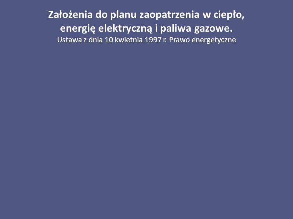 Ustawa z dnia 10 kwietnia 1997 r. Prawo energetyczne