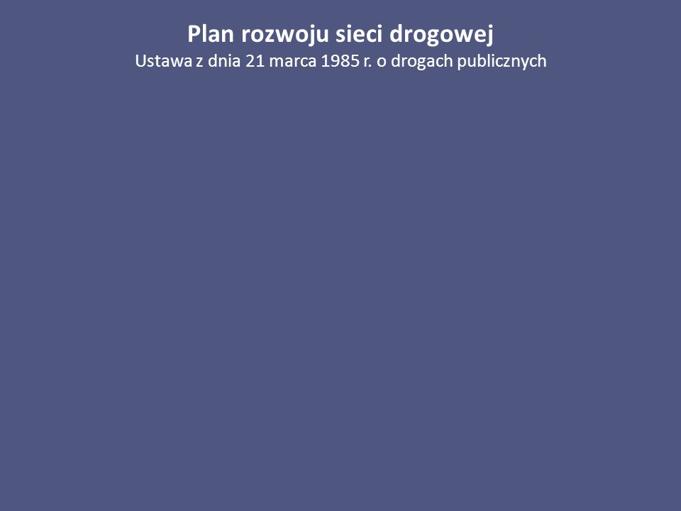 Plan rozwoju sieci drogowej