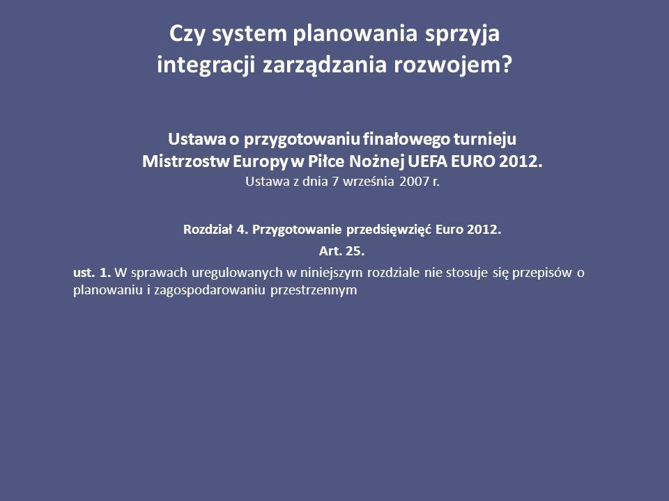 Czy system planowania sprzyja integracji zarządzania rozwojem