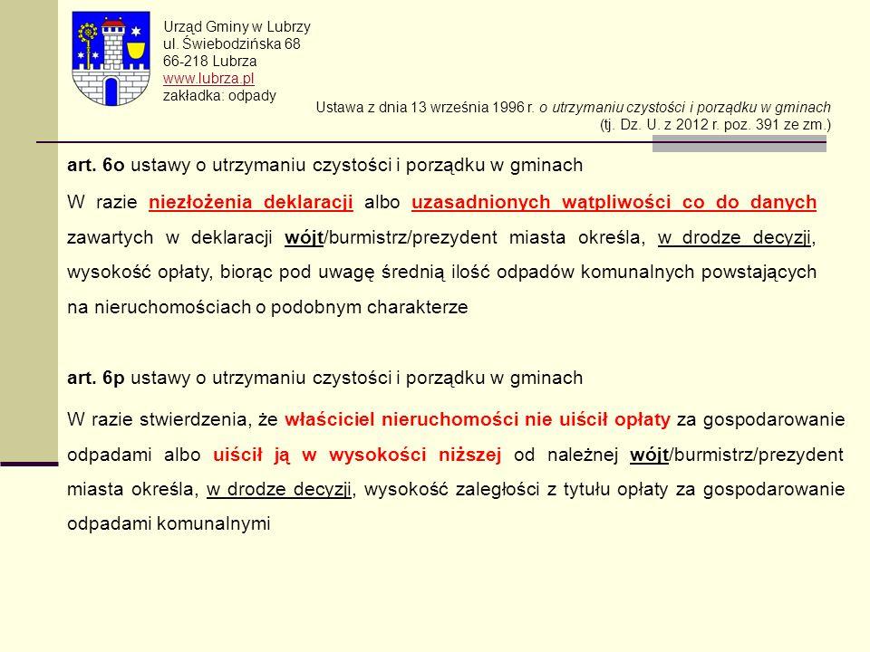 art. 6o ustawy o utrzymaniu czystości i porządku w gminach
