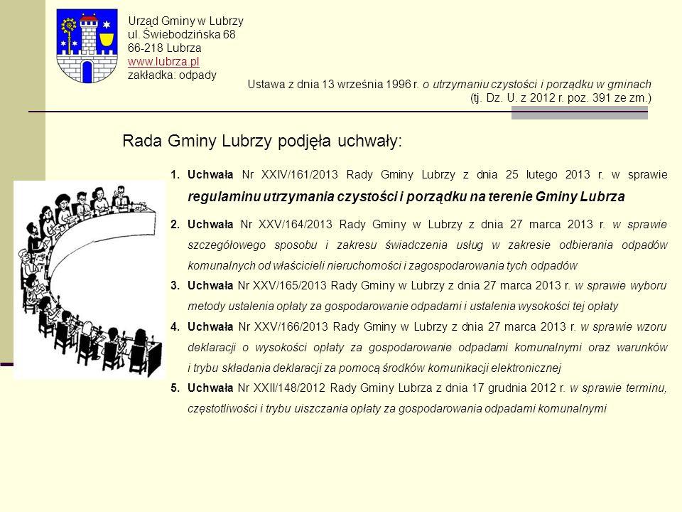 Rada Gminy Lubrzy podjęła uchwały: