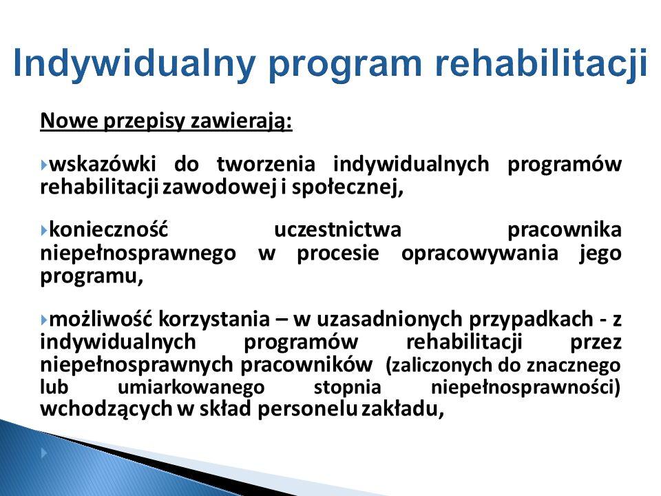 Indywidualny program rehabilitacji