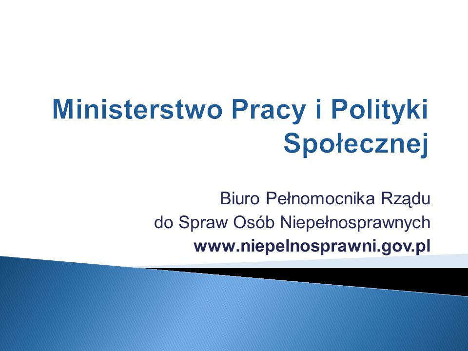 Ministerstwo Pracy i Polityki Społecznej
