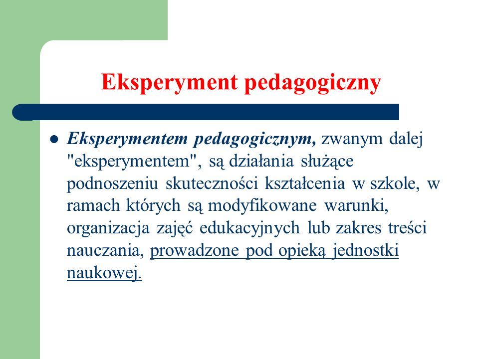 Eksperyment pedagogiczny