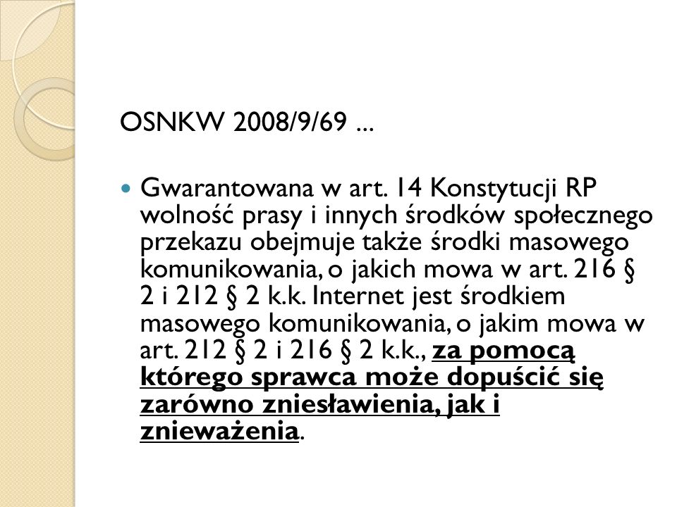 OSNKW 2008/9/69 ...