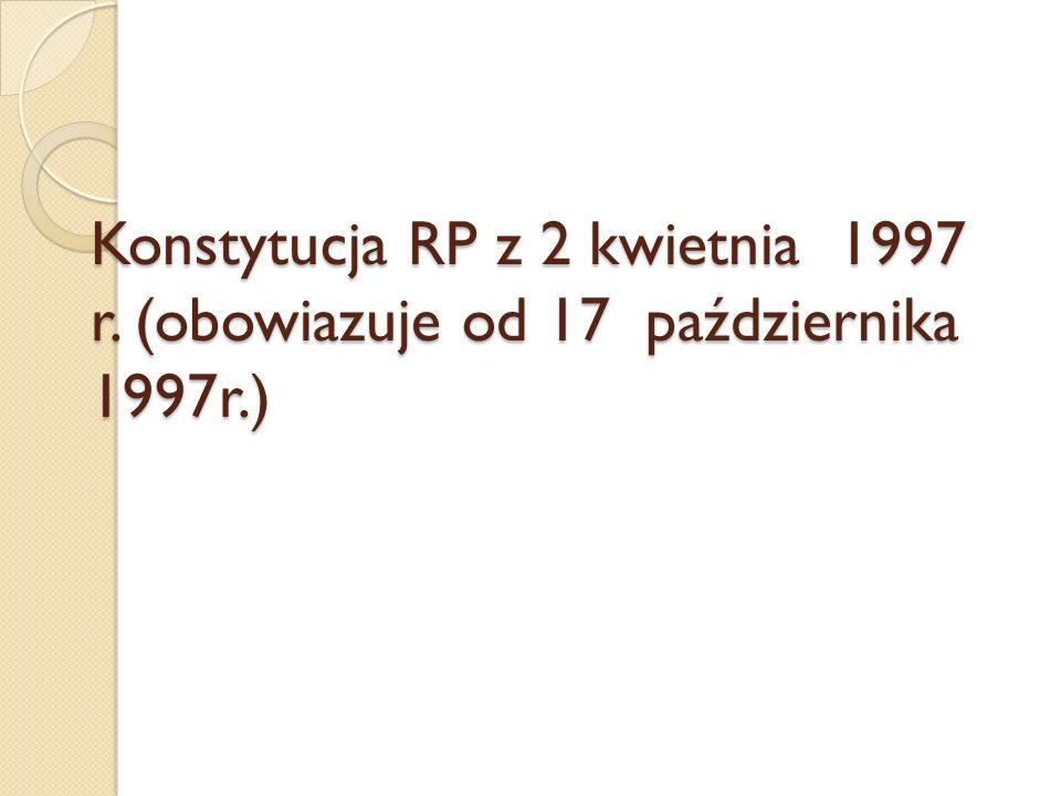 Konstytucja RP z 2 kwietnia 1997 r