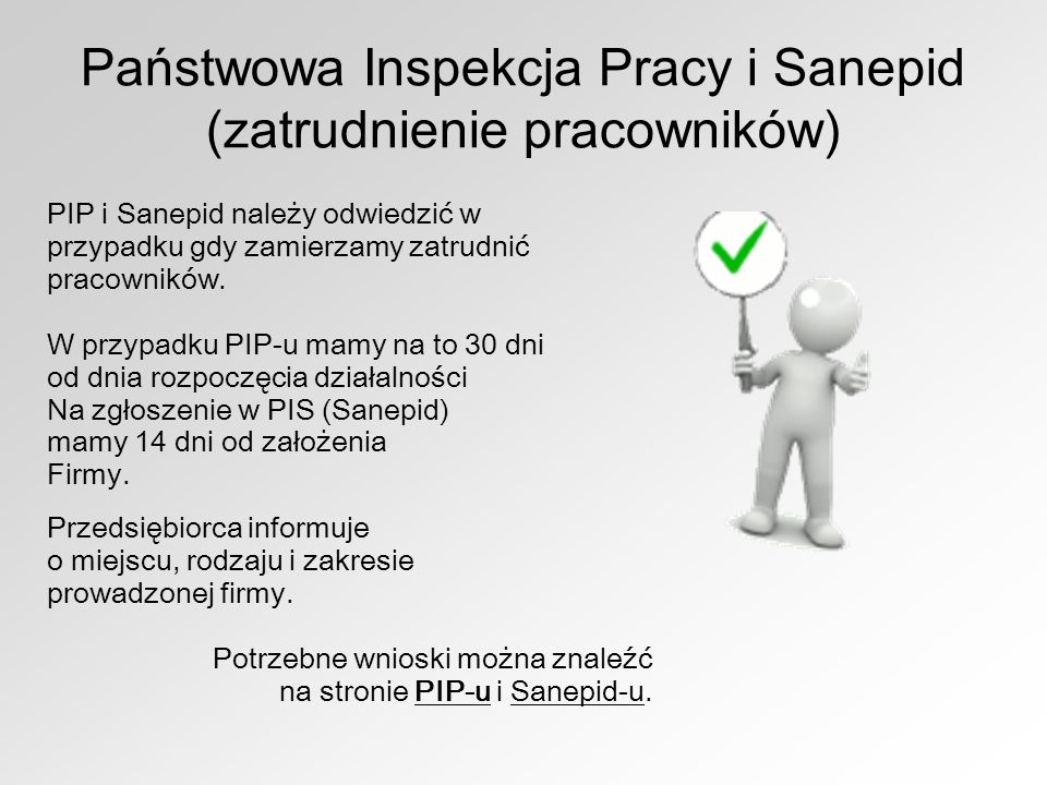 Państwowa Inspekcja Pracy i Sanepid (zatrudnienie pracowników)