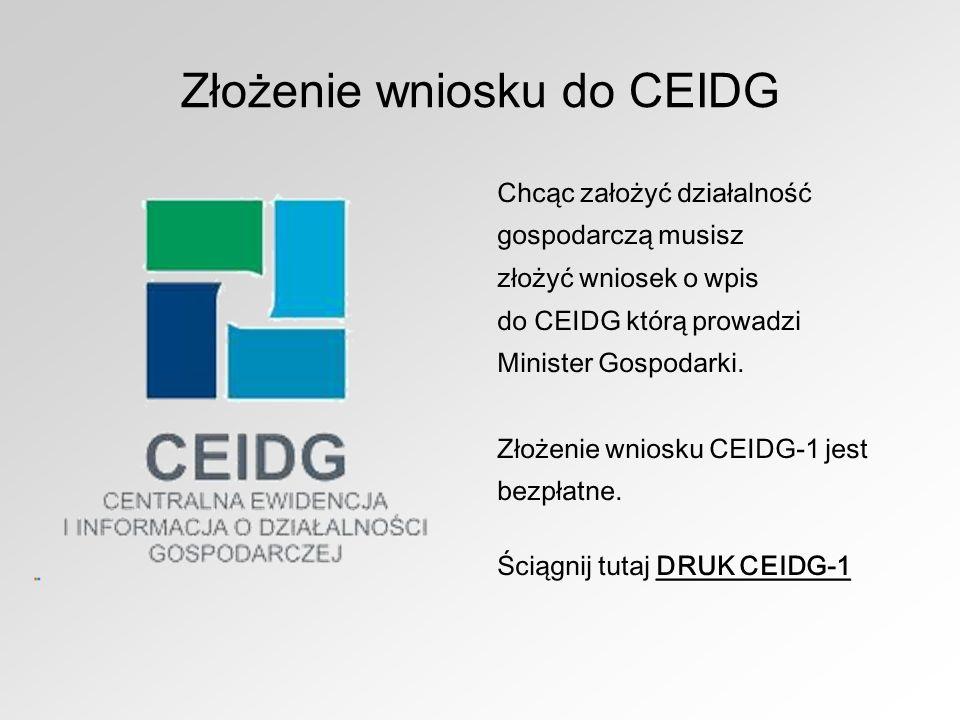 Złożenie wniosku do CEIDG