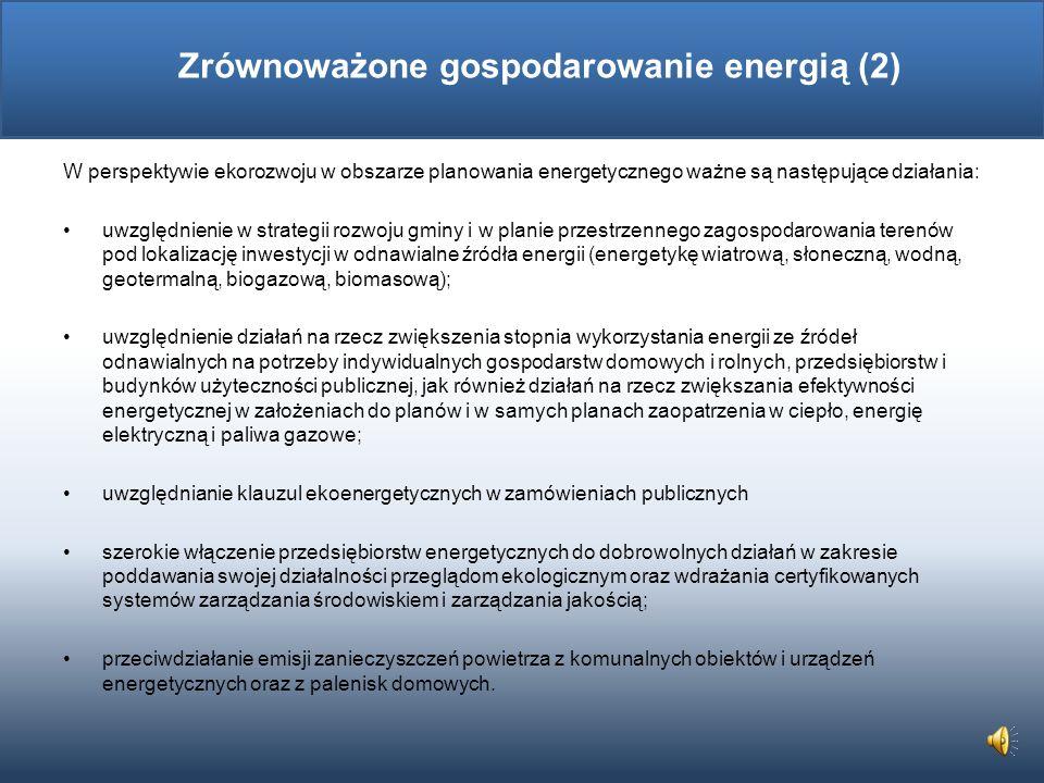 Zrównoważone gospodarowanie energią (2)