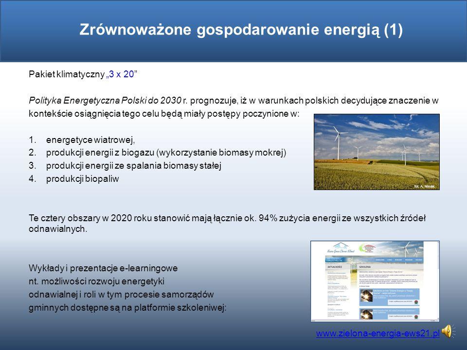 Zrównoważone gospodarowanie energią (1)