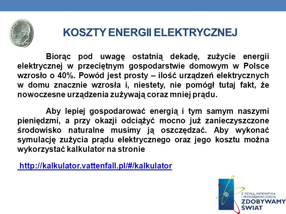 Koszty energii elektrycznej