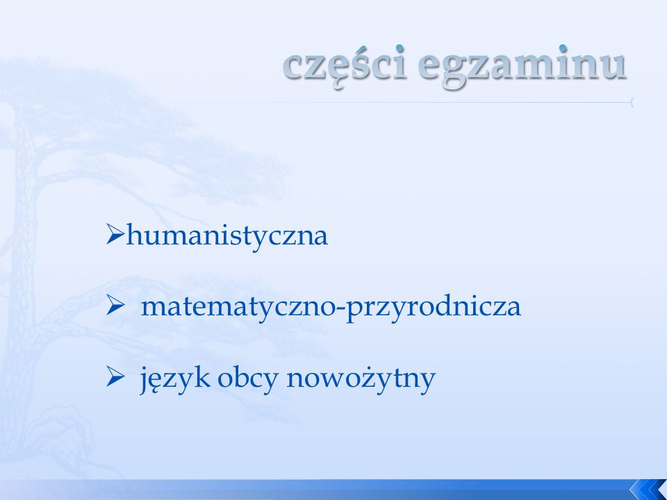 części egzaminu humanistyczna matematyczno-przyrodnicza
