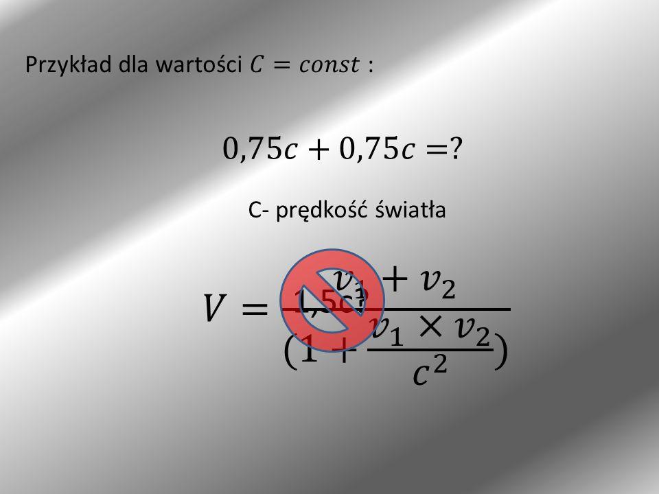 Przykład dla wartości 𝐶=𝑐𝑜𝑛𝑠𝑡 :