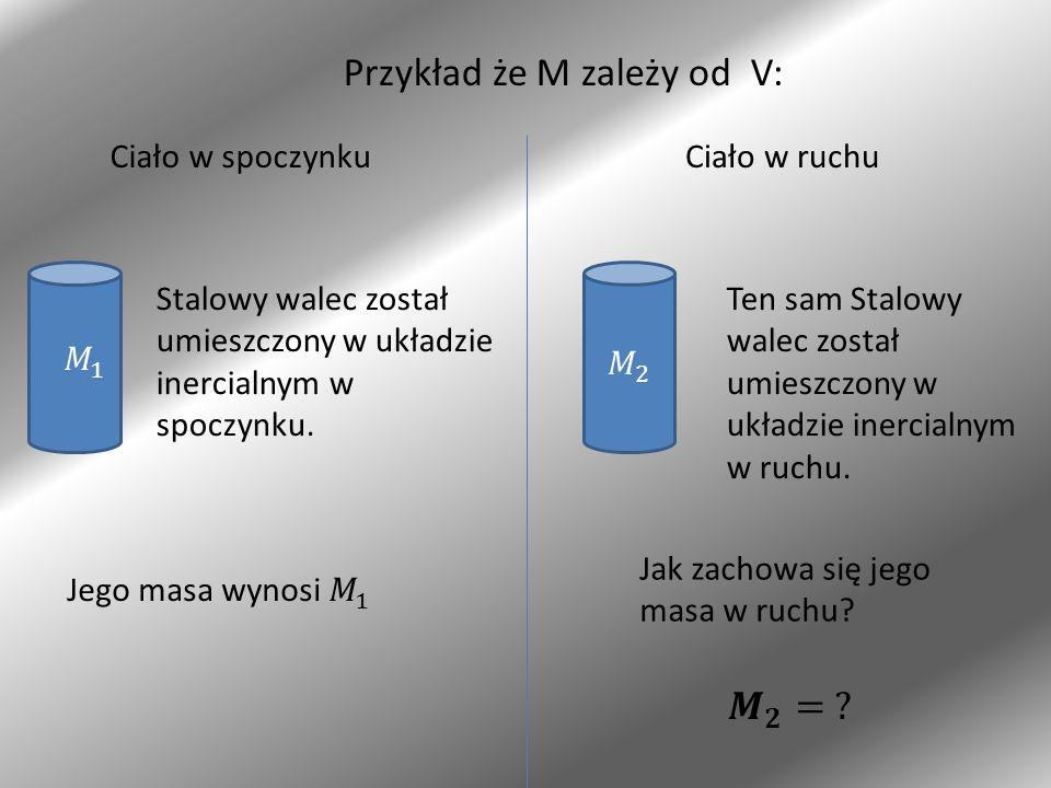 Przykład że M zależy od V: