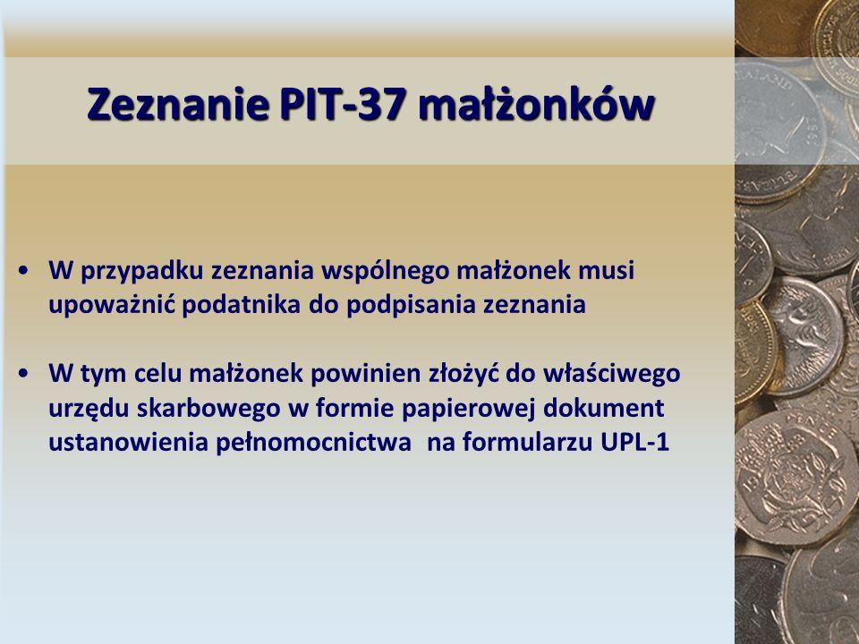 Zeznanie PIT-37 małżonków