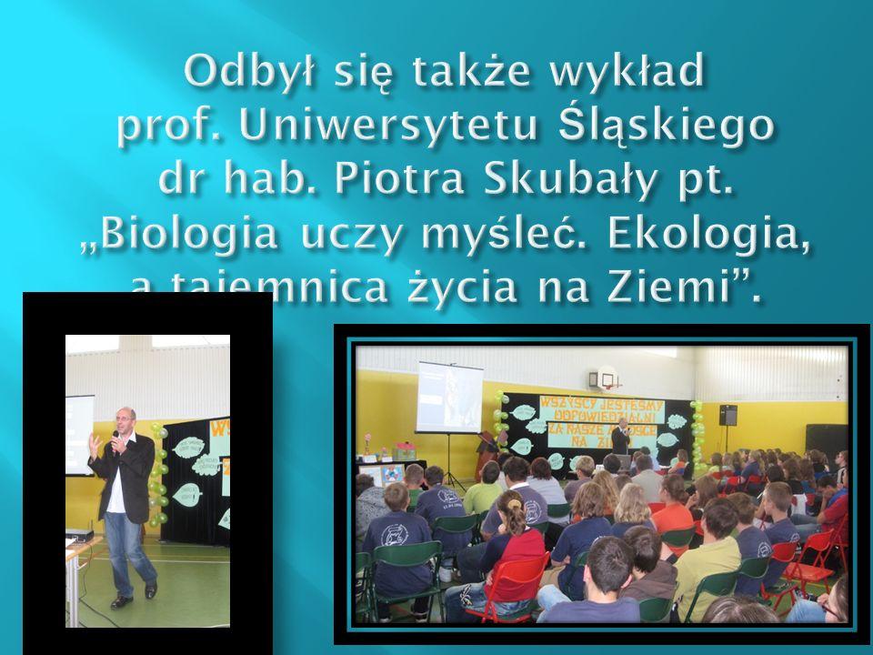 Odbył się także wykład prof. Uniwersytetu Śląskiego dr hab