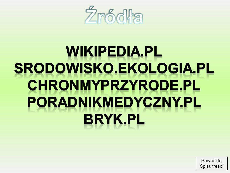 Źródła wikipedia.pl srodowisko.ekologia.pl chronmyprzyrode.pl