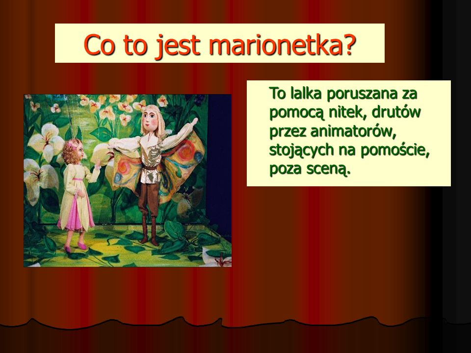 Co to jest marionetka.