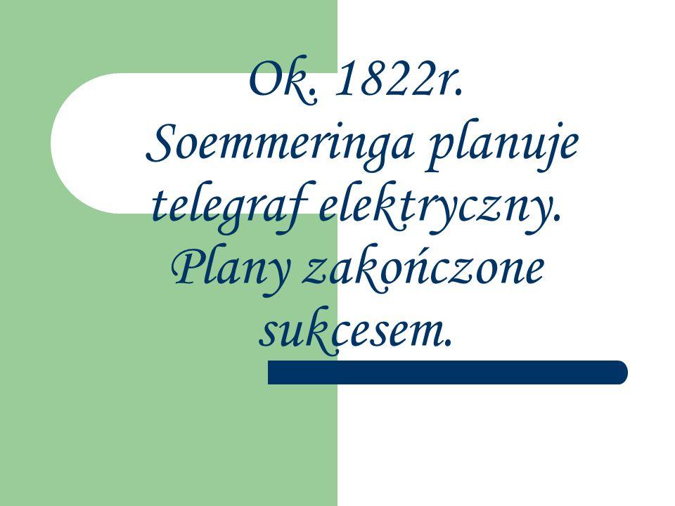 Ok. 1822r. Soemmeringa planuje telegraf elektryczny