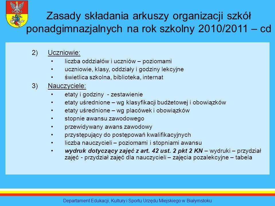 Departament Edukacji, Kultury i Sportu Urzędu Miejskiego w Białymstoku