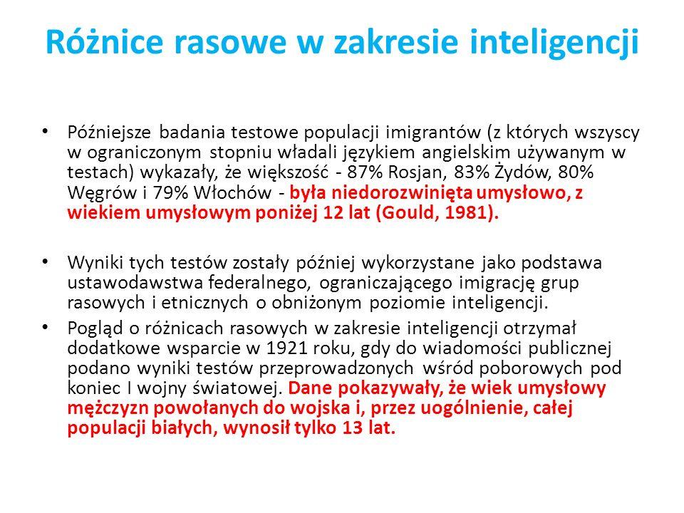 Różnice rasowe w zakresie inteligencji