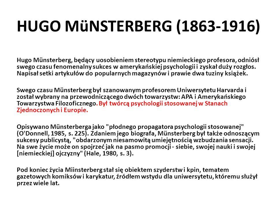 HUGO MüNSTERBERG (1863-1916)