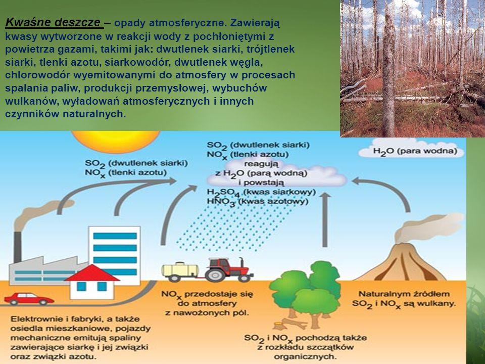 Kwaśne deszcze – opady atmosferyczne