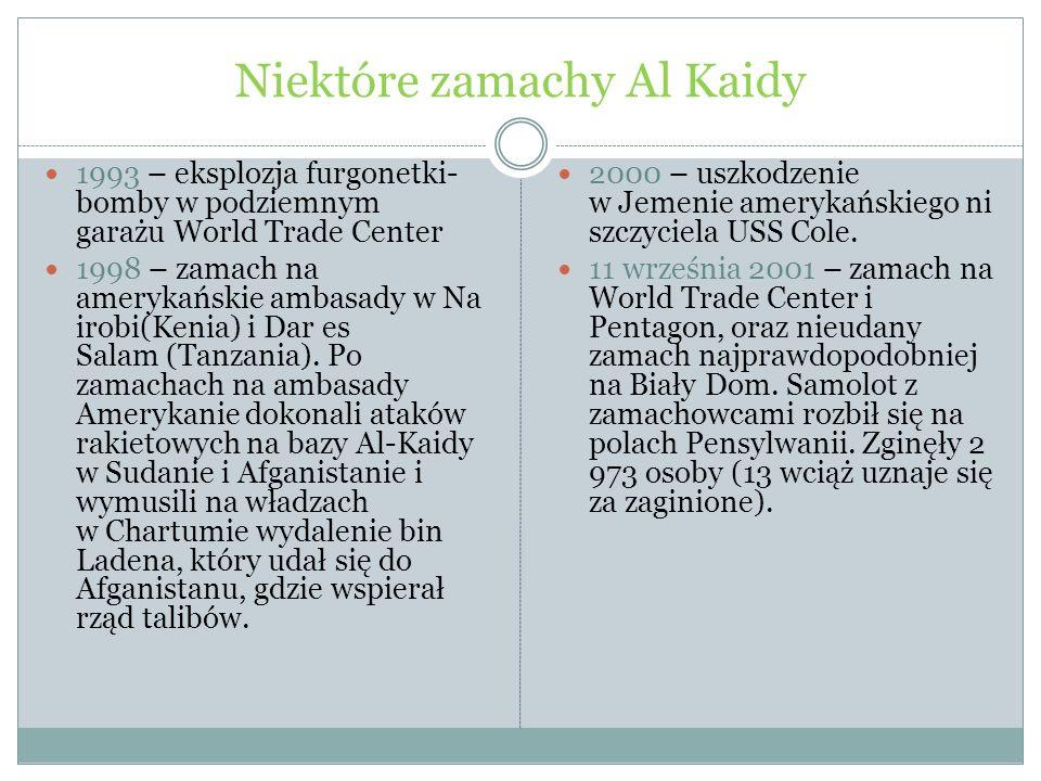Niektóre zamachy Al Kaidy