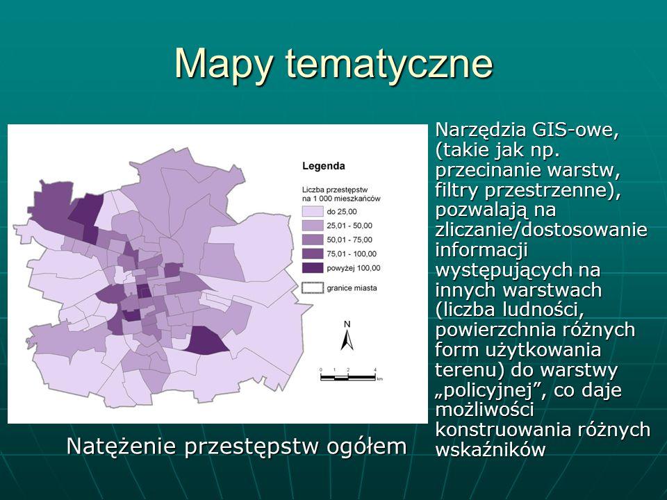 Mapy tematyczne Natężenie przestępstw ogółem