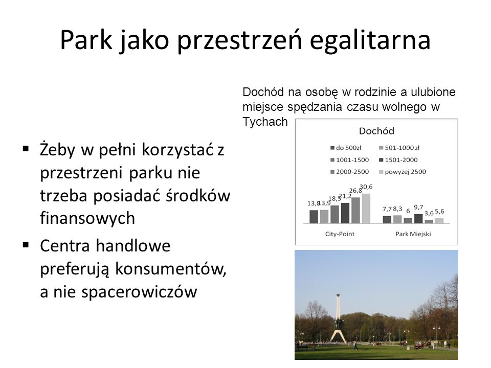 Park jako przestrzeń egalitarna