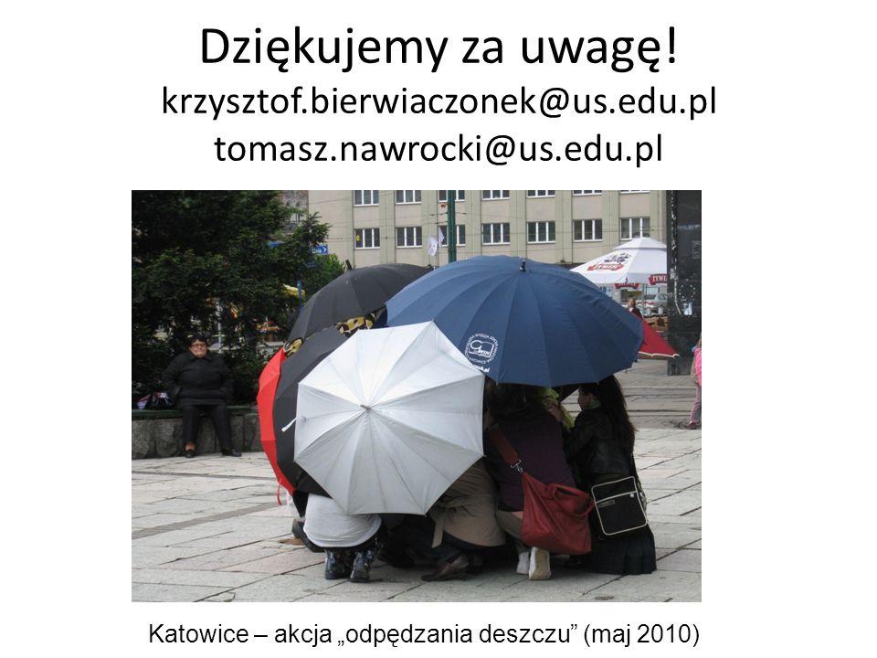 """Katowice – akcja """"odpędzania deszczu (maj 2010)"""