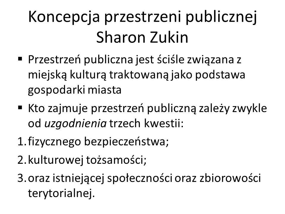 Koncepcja przestrzeni publicznej Sharon Zukin