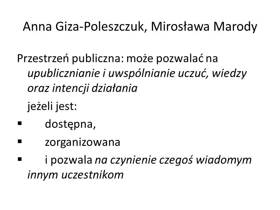 Anna Giza-Poleszczuk, Mirosława Marody