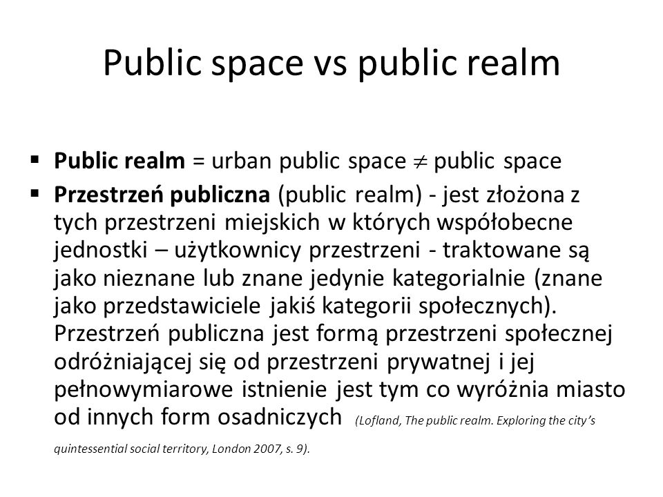 Public space vs public realm