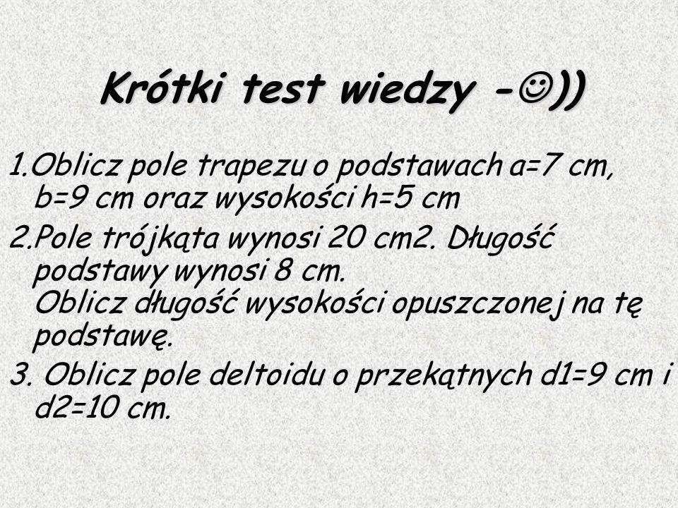 Krótki test wiedzy -))