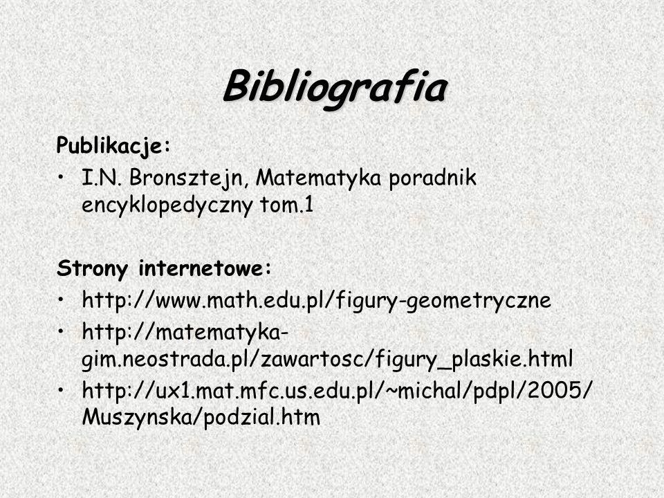 Bibliografia Publikacje: