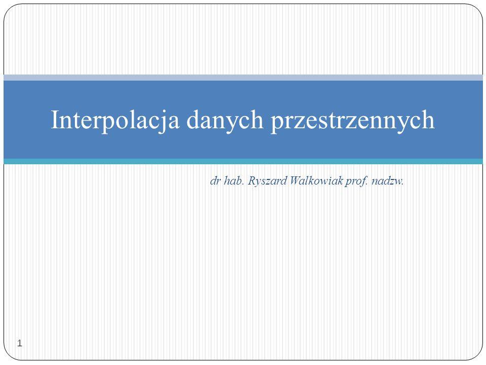 Interpolacja danych przestrzennych