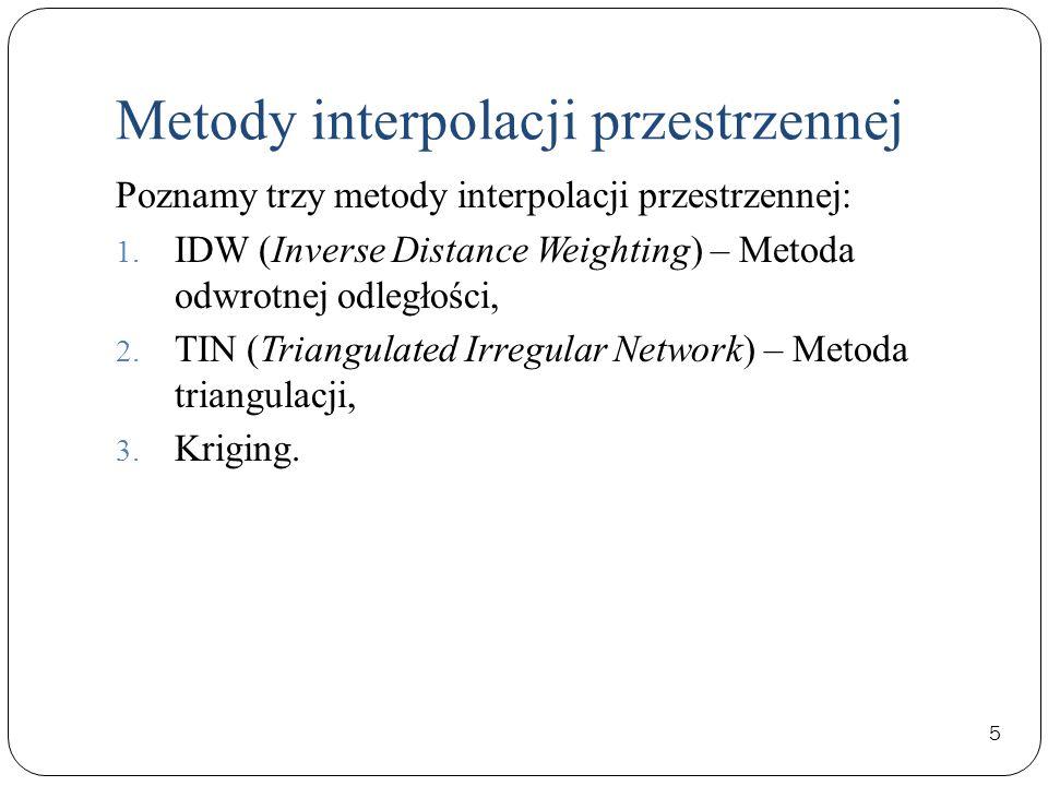 Metody interpolacji przestrzennej