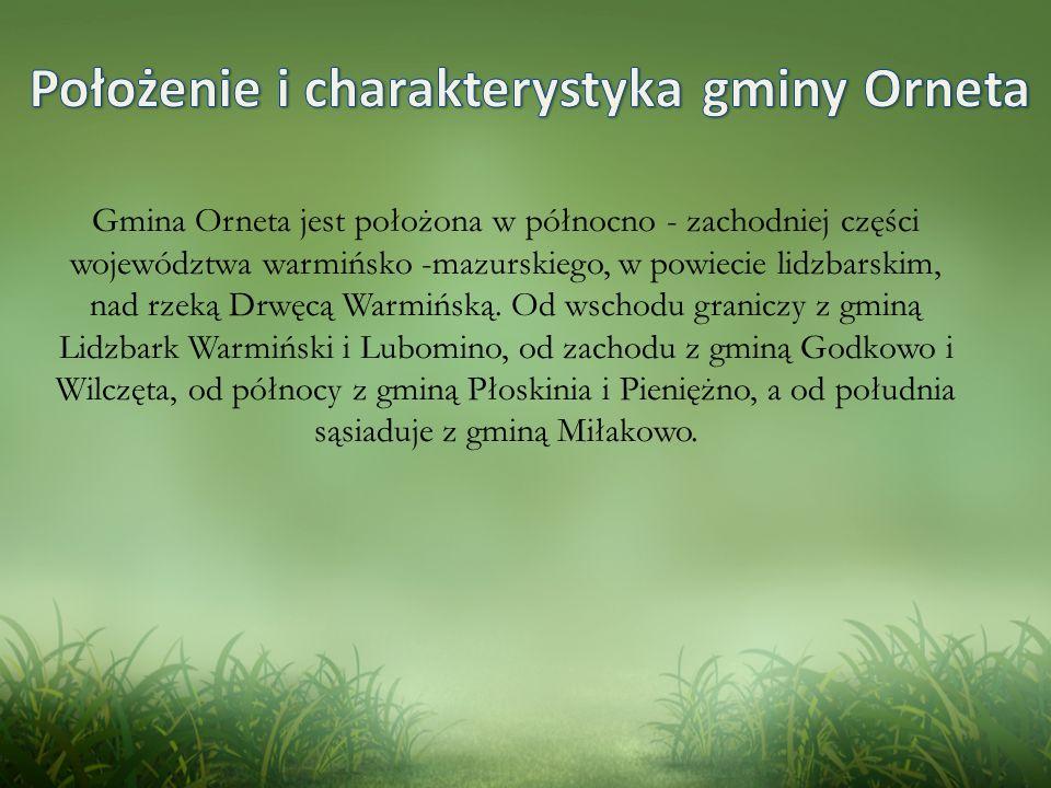Położenie i charakterystyka gminy Orneta