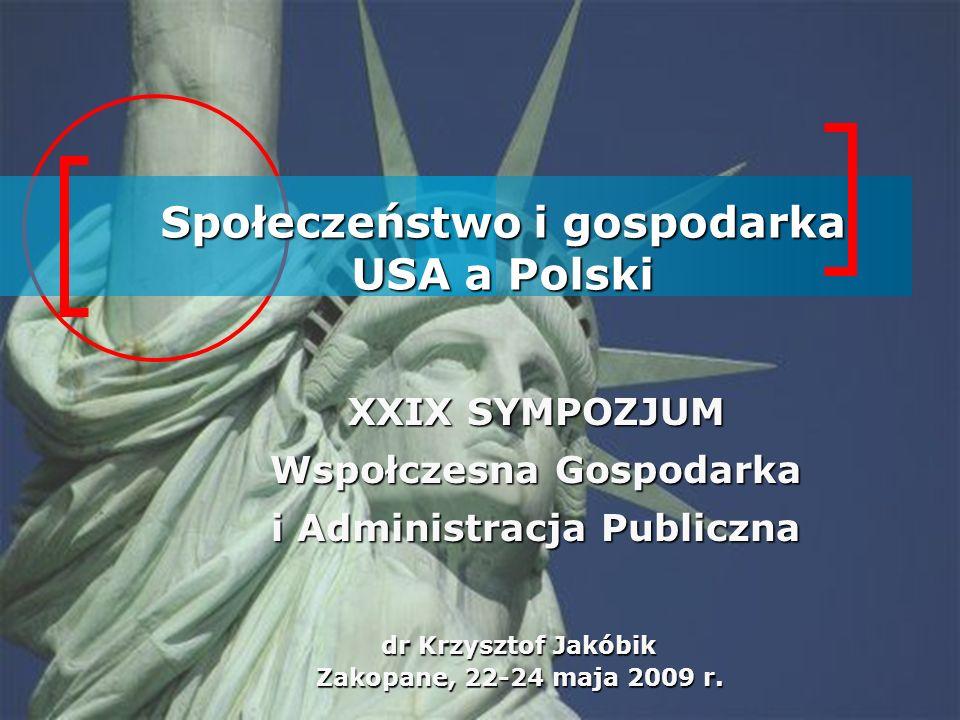 Społeczeństwo i gospodarka USA a Polski