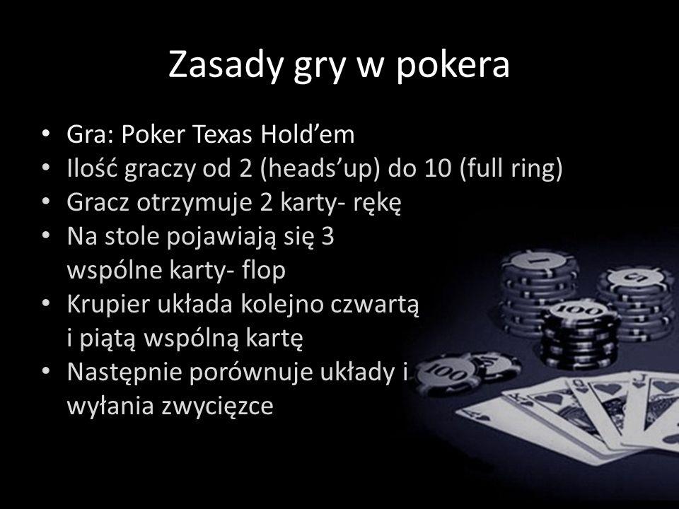 Zasady gry w pokera Gra: Poker Texas Hold'em