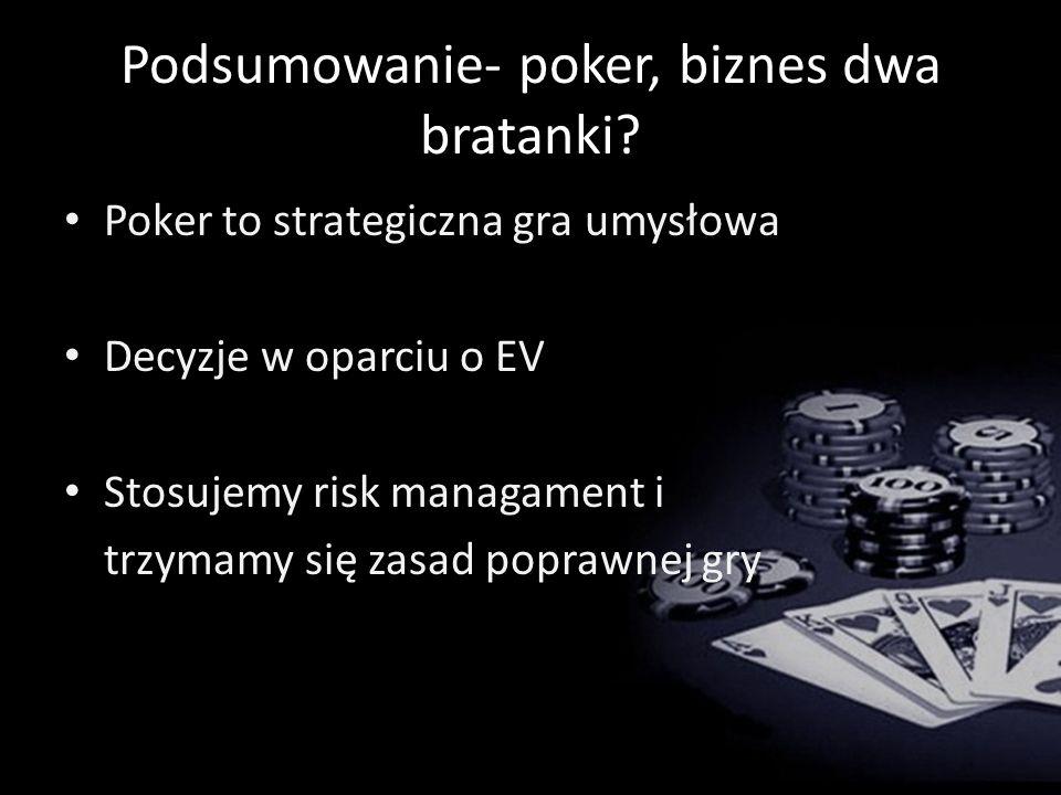 Podsumowanie- poker, biznes dwa bratanki