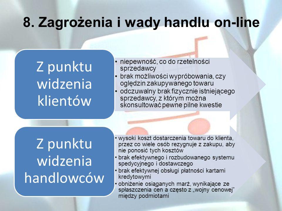 8. Zagrożenia i wady handlu on-line