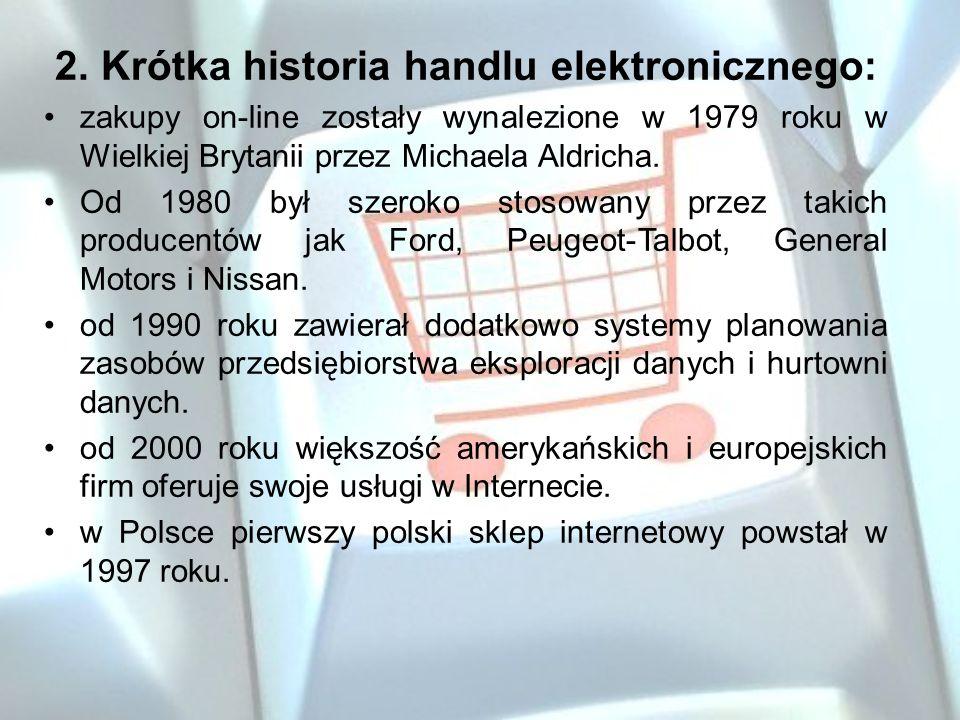 2. Krótka historia handlu elektronicznego:
