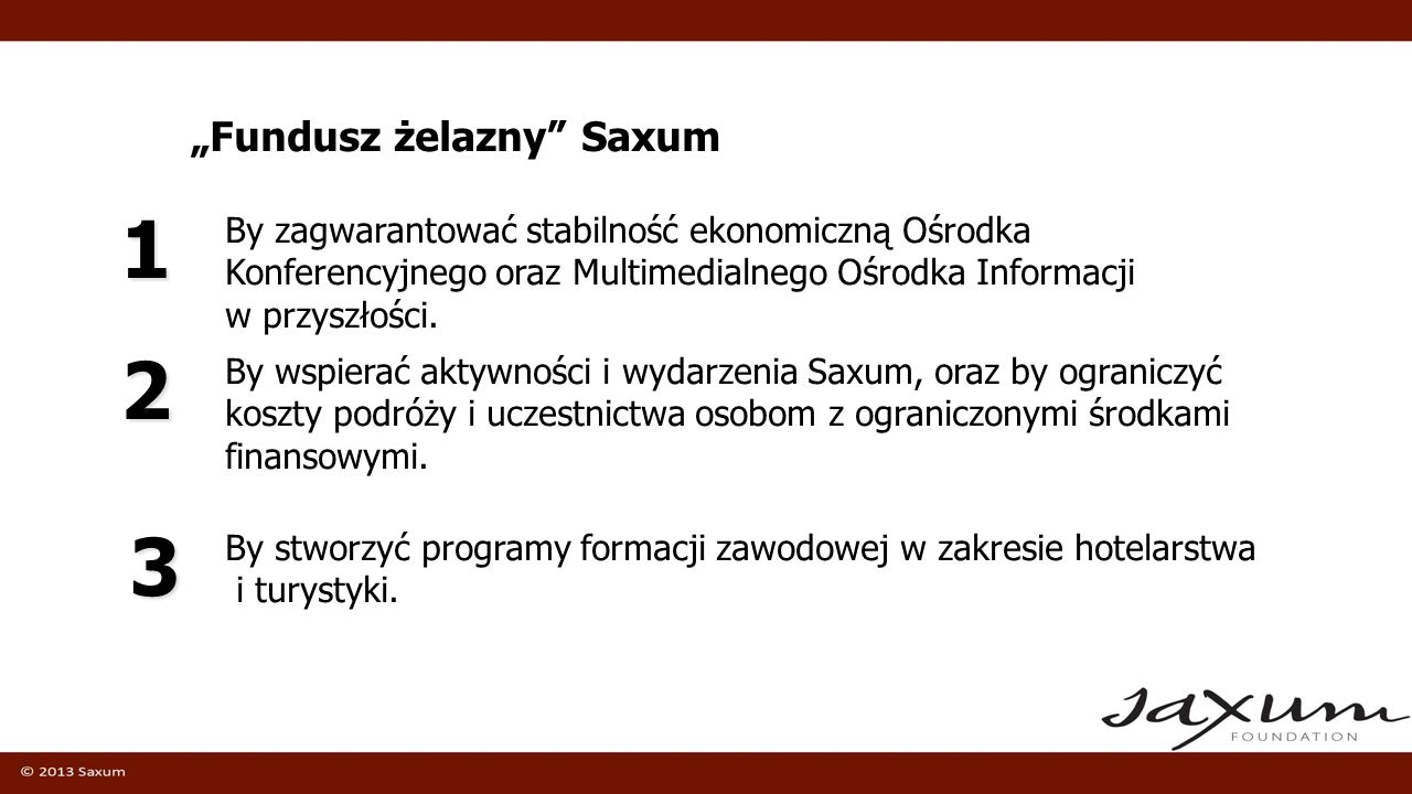 """1 2 3 """"Fundusz żelazny Saxum"""