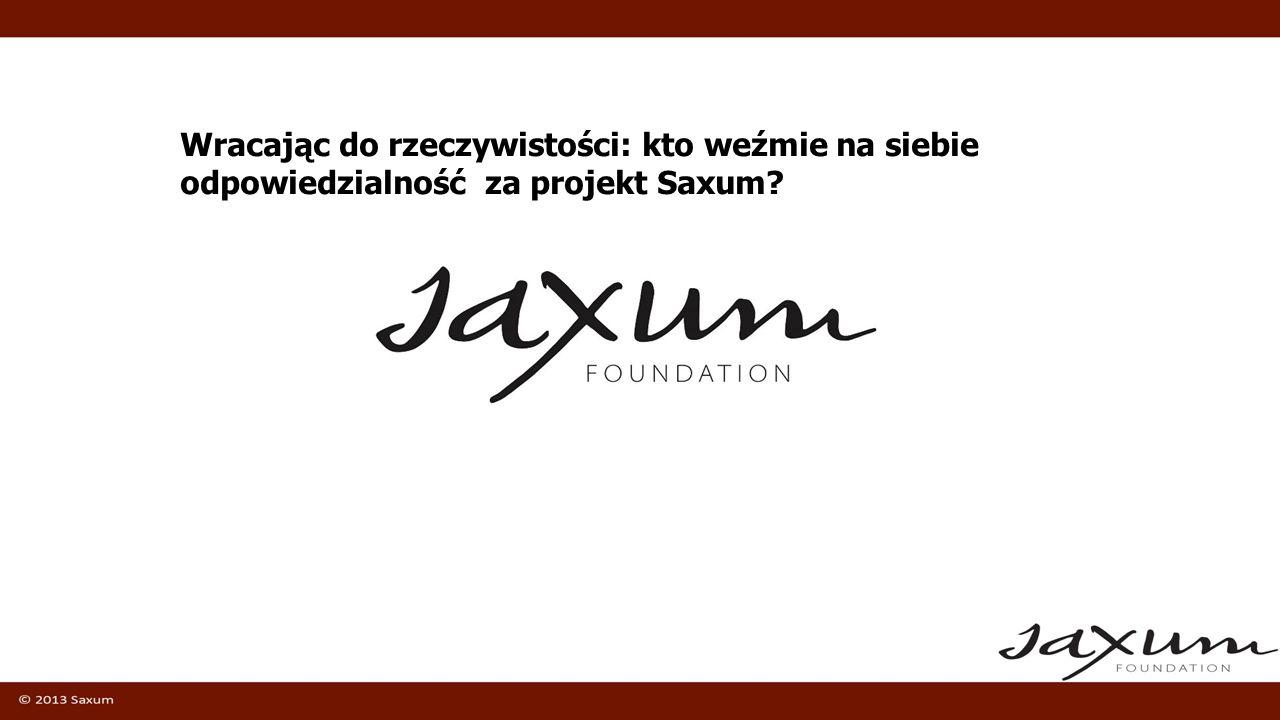 Wracając do rzeczywistości: kto weźmie na siebie odpowiedzialność za projekt Saxum