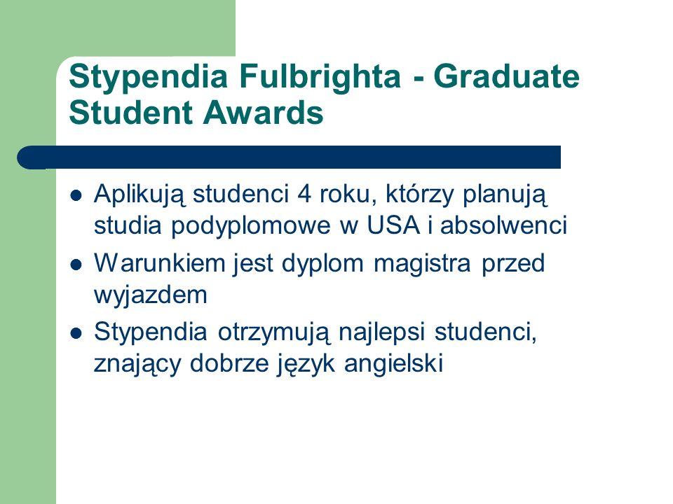 Stypendia Fulbrighta - Graduate Student Awards