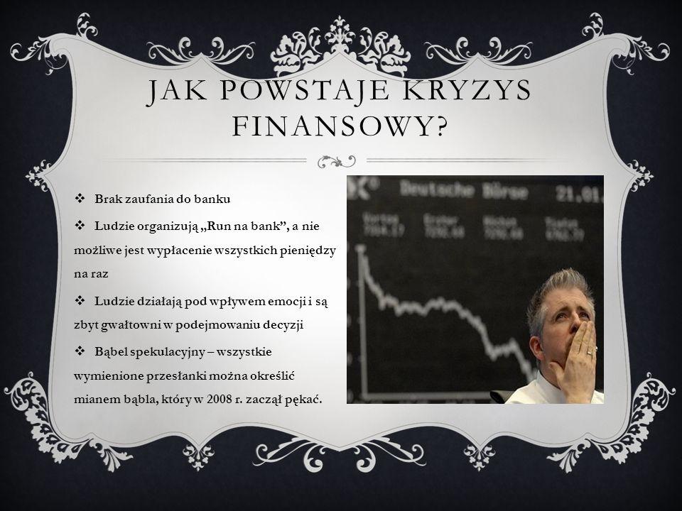 Jak powstaje kryzys finansowy