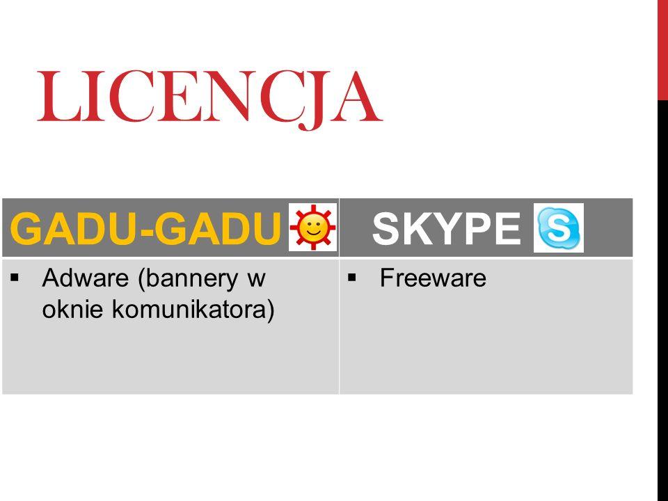 LICENCJA GADU-GADU SKYPE Adware (bannery w oknie komunikatora)