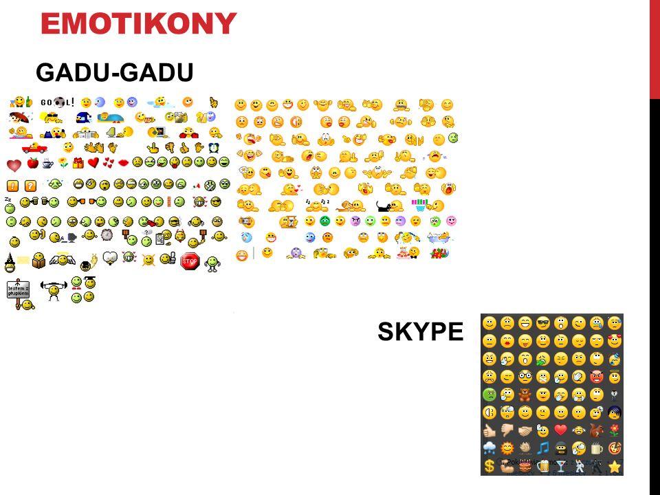 emotikony GADU-GADU SKYPE